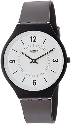 Swatch Skinsuit SVOB101 Black Plastic Swiss Quartz Fashion Watch