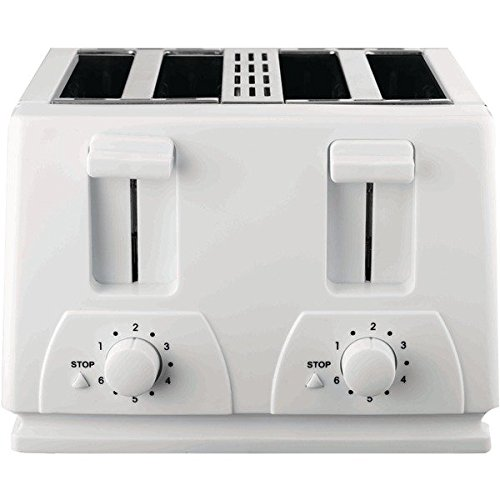 Brentwood Ts-264 1300W 4-Slice Toaster White Home & Garden