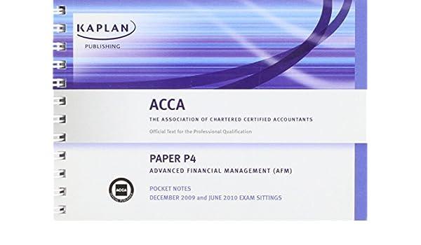 P4 Advanced Financial Management AFM Pocket Notes
