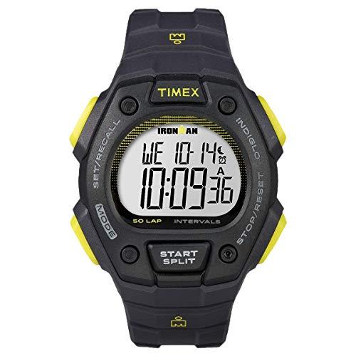 Timex Ironman Classic 50-Lap Full-Size Watch - Gray/Black/Yellow (56634)