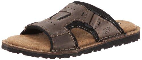 Skechers Men's Golson Volume Gladiator Sandal,Dark Brown,12 M US