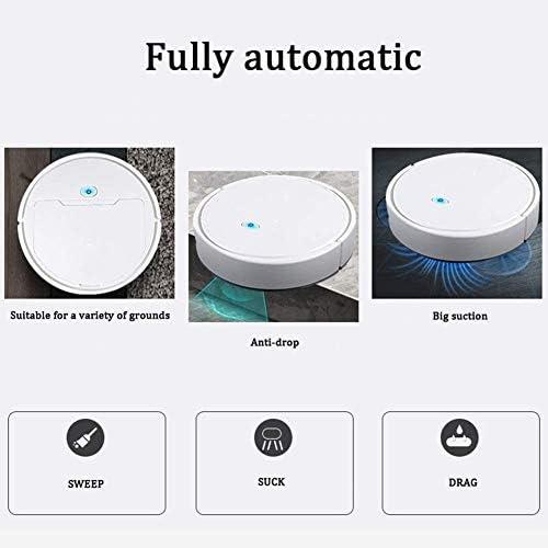 LLDKA Robot aspirapolvere Rondella Forte AspirationSlim del Potere del Robot di Vuoto Indicato per Capelli Pet
