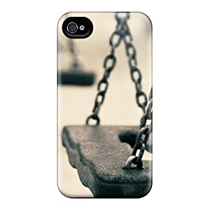 Rugged Skin Case Cover For Iphone 4/4s- Eco-friendly Packaging(swing Chains) by icecream design