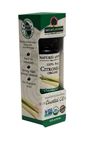 Nature's Answer 100% Pure Organic Essential Oil, Citronella,0.50 Ounce