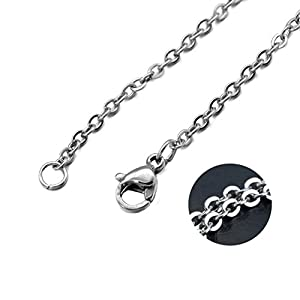 10pcs Wholesale Stainless Steel Rolo Round Cross O Chain Necklace Bulk for Jewelry Making Fashion Men's Women's Jewelry Accessories Chains (70cm about 28 inches, 1.6mm wide)
