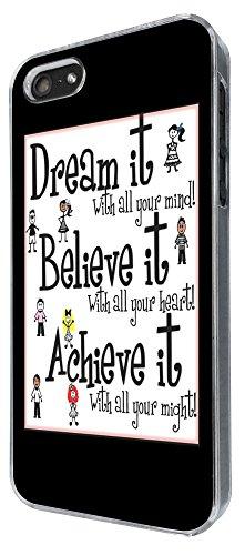 276 - Dream it quote Design iphone 5 5S Coque Fashion Trend Case Coque Protection Cover plastique et métal