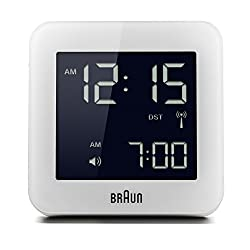 Braun BNC009WH-RC Digital Quartz Alarm Clock