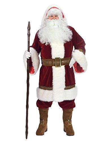 Fun World Costumes Men's Plus-Size Plus Size Adult Oldtime Santa... Hooded Robe Set, Red/White, (Old Time Santa)