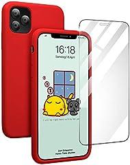 Pukizog Hülle für iPhone 11 Pro, Silikon Schutzhülle mit HD-Panzerglas Schutz vor Kratzer/Stoßfeste Handyhülle Case...