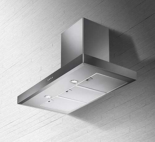 Faber - Campana extractora de pared (acero inoxidable y cristal, 90 cm): Amazon.es: Grandes electrodomésticos
