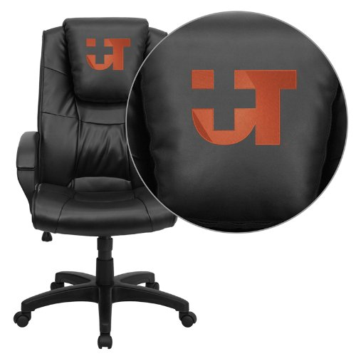 Flash Furniture Texas SW Medical Center Dallas Embroidered Black Leather Executive Office - Executive Dallas Leather Chair