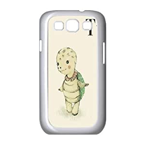 Samsung Galaxy S3 Case T for Turtle, Samsung Galaxy S3 Case Sea Creature Protective Cute For Girls, [White]