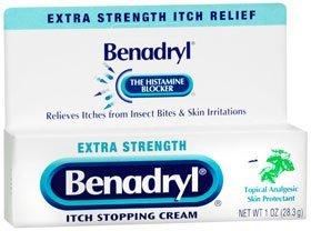 PACK OF 8 - Benadryl Extra Strength Antihistamine Anti-Itch Relief Cream, 1 Oz bottle by Benadryl