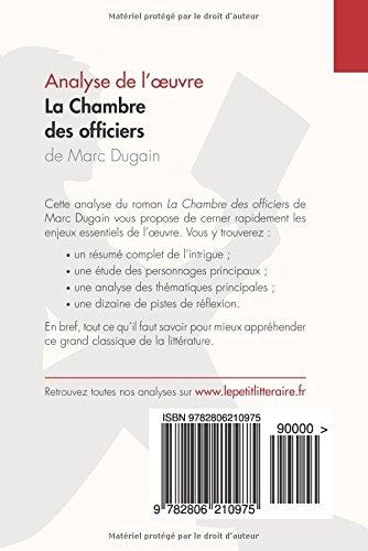 AmazonFr  La Chambre Des Officiers De Marc Dugain Analyse De L