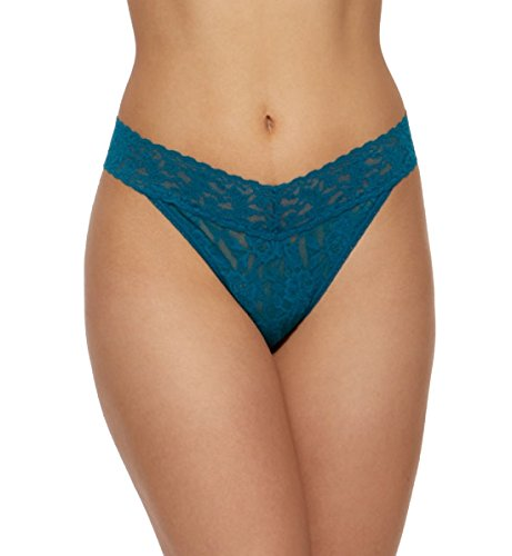 Hanky Panky Signature Lace Original Rise Thong #4811P,One Size,Enchanted Forest