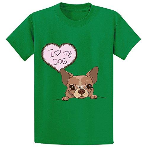 Cutestory Vector Invitation Chihuahua Chirldren Design Lovely T Shirts Green]()
