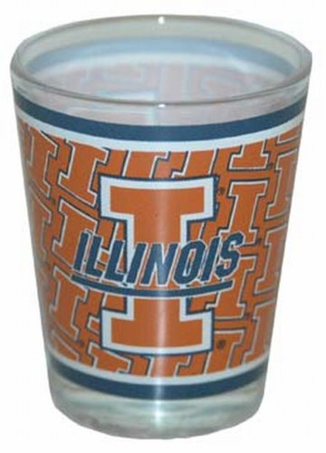 Illini Glass Fighting Illinois (Game Day Outfitters NCAA Illinois Fighting Illini Shotglass Clear Wrap)