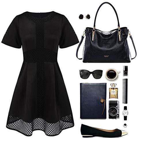 Cuero Hombro para Simple Serpiente Color Negro de de Bolso Mujer de patrn Gamuza Red 8qwfqxS6