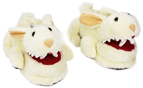 Toy-Vault-Rabbit-with-Big-Pty-Teeth-Slippers-Fits-Ages-14
