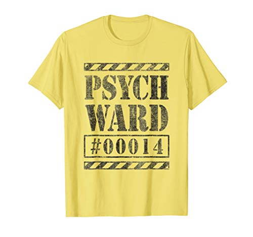 Escape Convict Inmate Psych Ward Halloween Costume Shirt #14 -