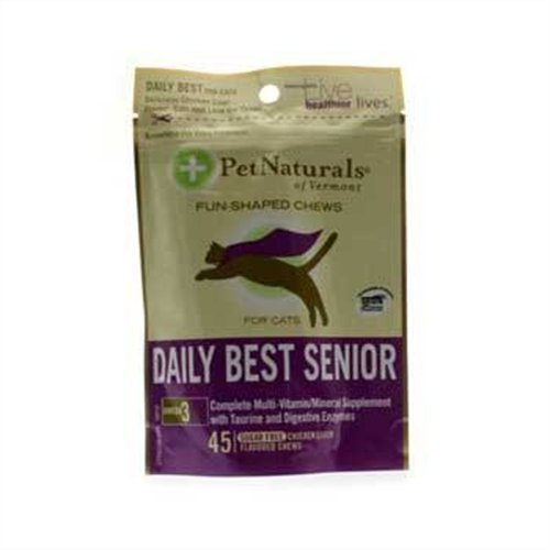 Pet Naturals Daily Best Senior for Cats Chew (45 count), My Pet Supplies