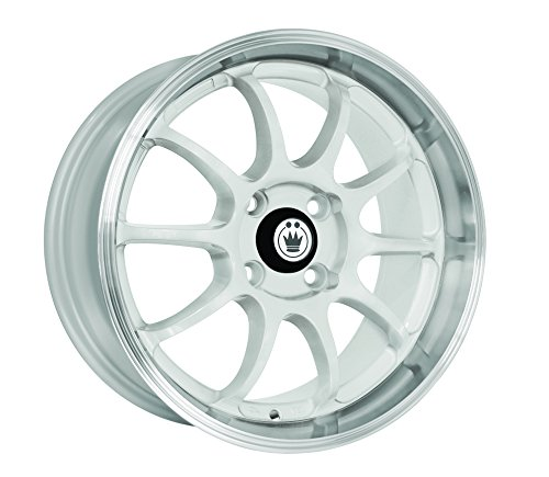 Konig Lightning White Wheel with Machined Lip - Yaris Rims Toyota