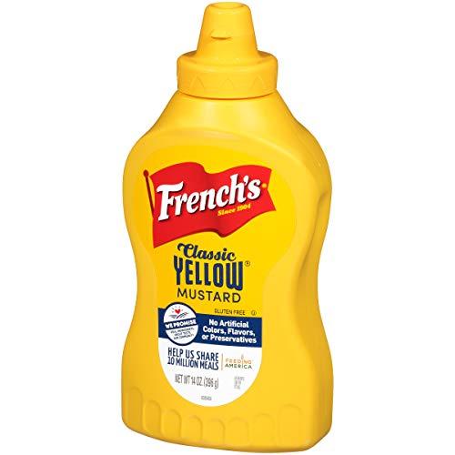 French's Classic Yellow Mustard Sauce, Stone Ground Mustard, Gluten Free, 14 oz