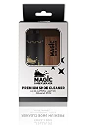 Professional Shoe Cleaner Kit (8.5 Oz.) - Fabric Cleaner Solution w/ Shoe Brush - Non Toxic
