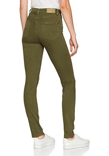 Tommy Stretch Military Gdfgst jeans 911 Blu Donna High Skinny Olive Santana Rise gd rPrxOqAf