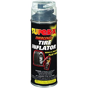 Amazon.com: Super-X 660 Emergency Tire Inflator With Hose - 12-Ounce Aerosol Can: Automotive