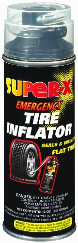 Super-X 660 Emergency Tire Inflator With Hose - 12-Ounce Aerosol Can ()