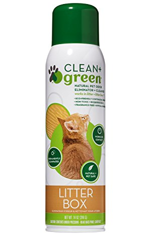 Professional Strength Non-Toxic Litter Box Natural Odor Eliminator, Deodorizer,  and Cleaner, 14 Ounce (Clean Cat Litter Deodorizer)