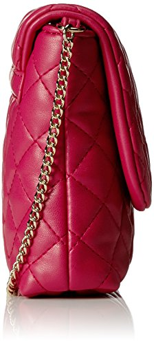 Borsa tracolla love moschino nappa pu trap JC4308PP04KA0604 similpelle fuxia fw 17/18