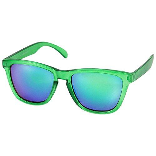 Sonnenbrille Panto Brille verspiegelt 400 UV Wayfarer blau grün pink blau G8VXvY