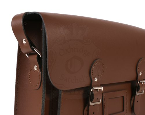 Leather Satchel's, Borsa a spalla uomo Marrone Light Brown