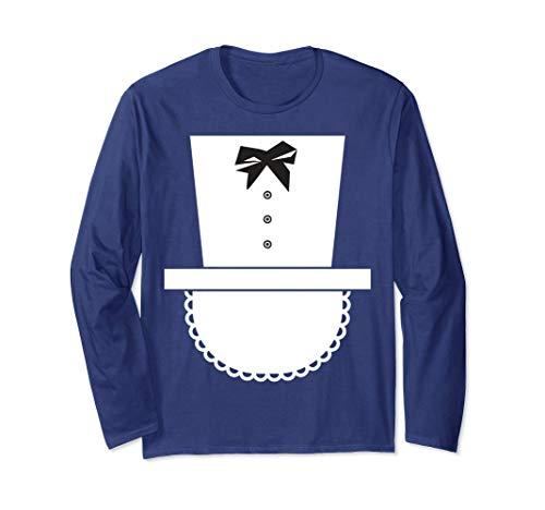 French Maid Halloween Costume Long Sleeve Shirt