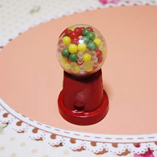 BLagenertJ Retro Miniature Candy Gumball Machine Dollhouse Realistic Model Pretend Play Kid Toy ()