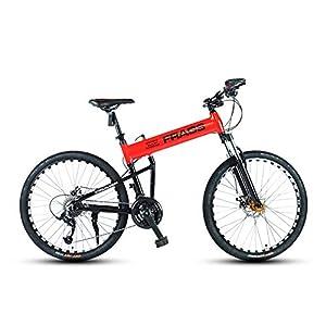 41hlz0XK2oL. SS300 Bicicletta, Pieghevole Bicicletta Mountain Bike, 26 Pollici 24 velocità Biciclette, Bicicicletta MTB, Assorbimento degli…