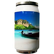 Kdnsgfds A Boat By The Sea Double Vacuum Insulated Stainless Steel Coke Cans Water Bottle,280ml - Personalized Gift For Birthday,Christmas And New Year