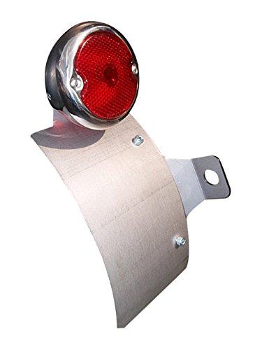 部品屋K&W サイドナンバーKIT (ラウンドテール付) レンズ赤ストレート P60610   B01GZQ2ZLE