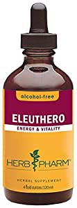 Herb Pharm Alcohol-Free Eleuthero (Siberian Ginseng) Root Glycerite for Energy and Stamina - 4 Ounce by Herb Pharm