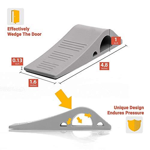 Image of Wundermax Door Stopper Rubber Door Stop Wedge Security Door Stops