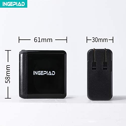 INGEPIAD QC PD Charger PD3.0+QC3.0 Wall Dual Port Charger 45W USB C Fast Charger for Apple Notebook Samsung GalaxyS8//S7//S6//S5 LG HTC Moto Google BlackBerry Huawei and More