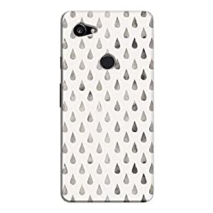 Cover It Up - Raindrops Silver Pastel Pixel 2 XL Hard Case