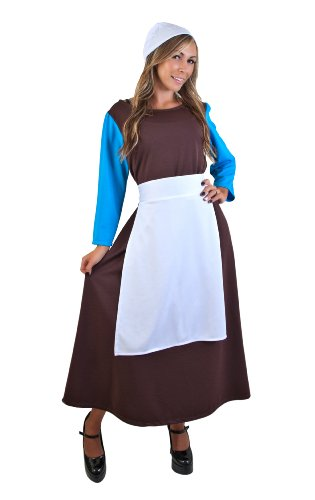 Adult Peasant Cinderella Dress (Size: Standard 8-12) (Adult Cinderella Dress)