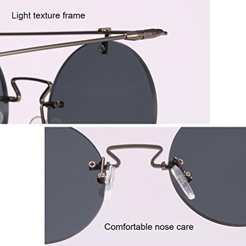 Hommes Sunglasses Tea Zhhlaixing Cadre Ronde Soleil métalliques Lunettes UV400 qualité femmes Protection de de et Lunettes Cadres de 4wwqBgCA