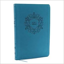 NKJV, Value Thinline Bible, Large Print, Leathersoft, Blue, Red Letter
