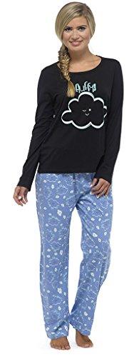 Ladies Fluffy Cloud Cotton Rich pajama Set