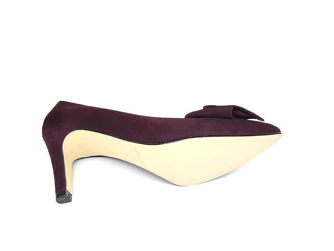 Gennia Malorie - Damen Pumps mit Stiletto Absatz und Schleife Schleife und A-003 (Pantone 7449 U) 70ef65