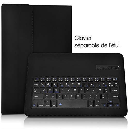 KARYLAX /Étui de Protection Noir avec Clavier Int/égr/é Azerty Fran/çais Connexion Bluetooth Universel M pour Tablette Samsung Galaxy Tab A 2018 10.5 SM-T590 Dimension 23,5 x 18 cm